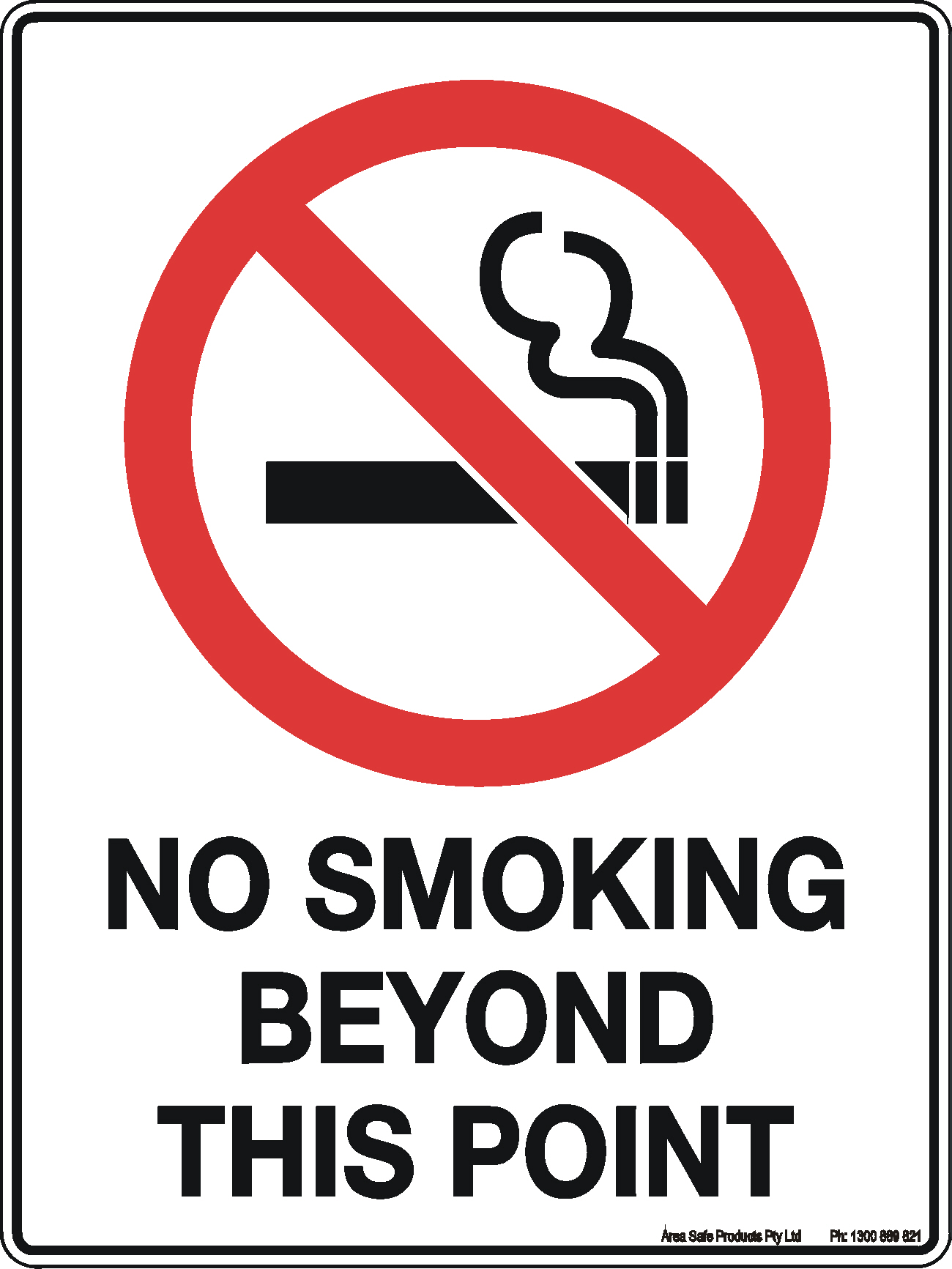 """Safety Sign /""""DANGER NO SMOKING  FLAMMABLE GASES 2mm Polypropylene 300MM X 225MM/"""""""