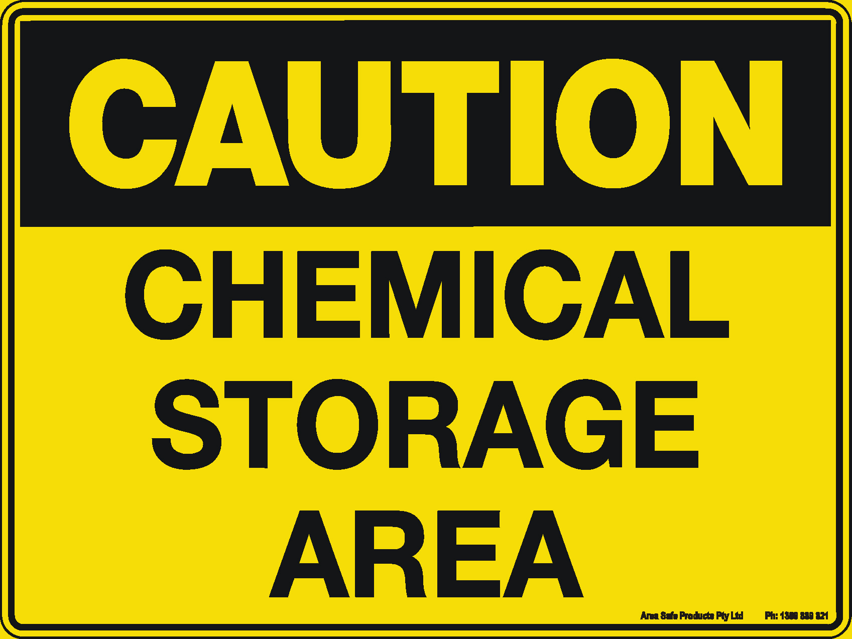 Traffic Signs Us >> Caution Sign - Chemical Storage Area