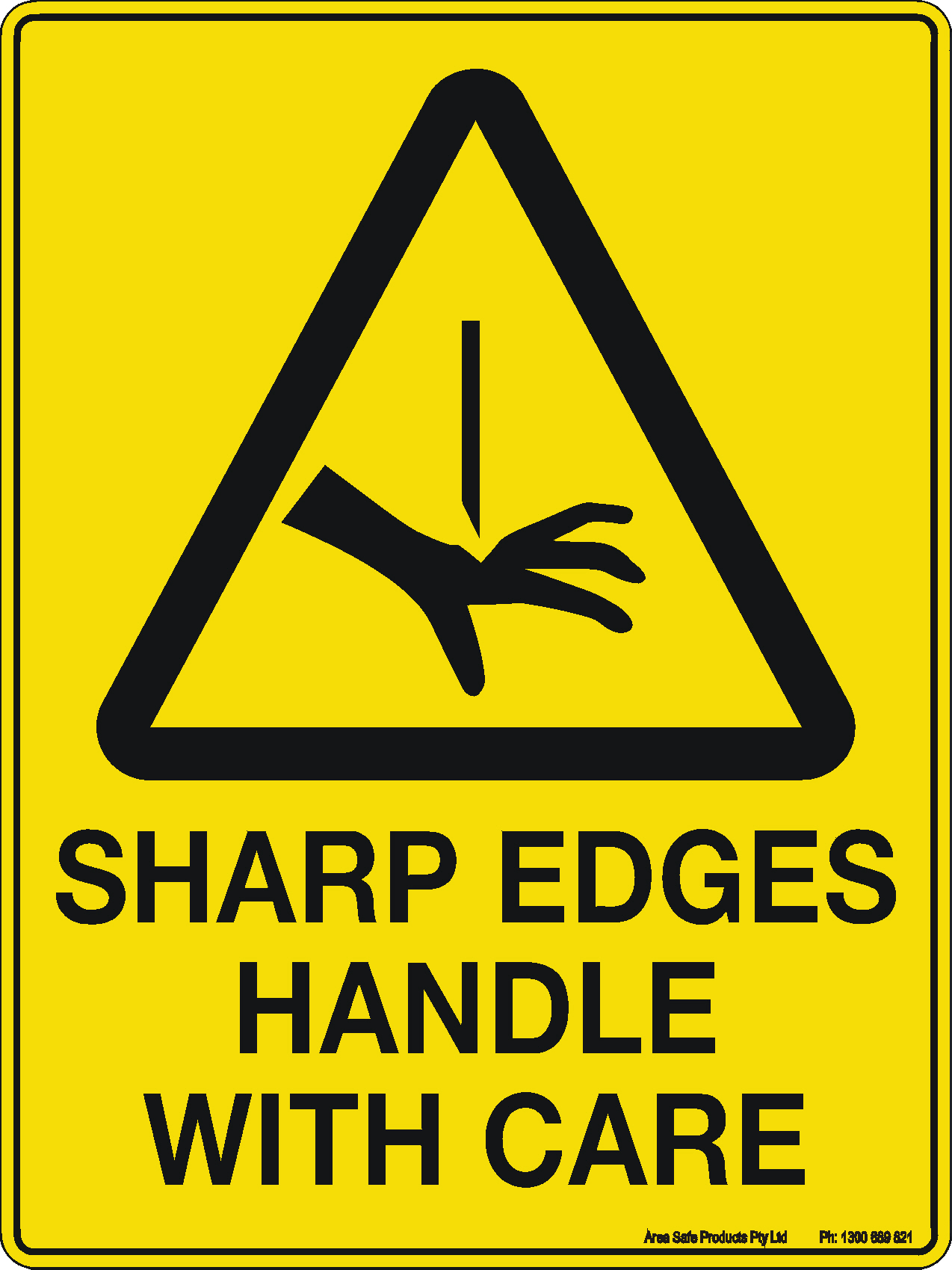caution sign sharp edges handle with care