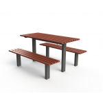 Woodville Setting with Benches - In-Ground - Merbau Hardwood