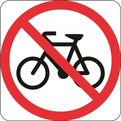 Reflective Prohibition Signs