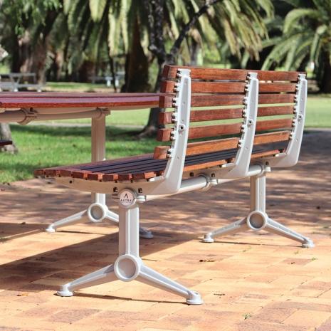 London Setting with Seats – Merbau Hardwood