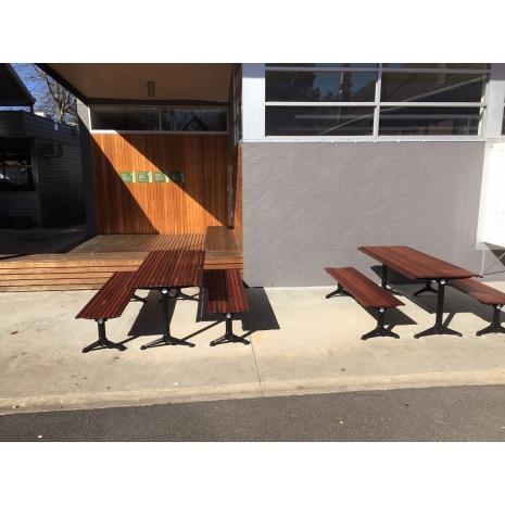 London Table (Black)  - Merbau Hardwood