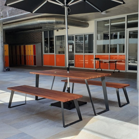 Vienna Setting with Benches - Merbau Hardwood