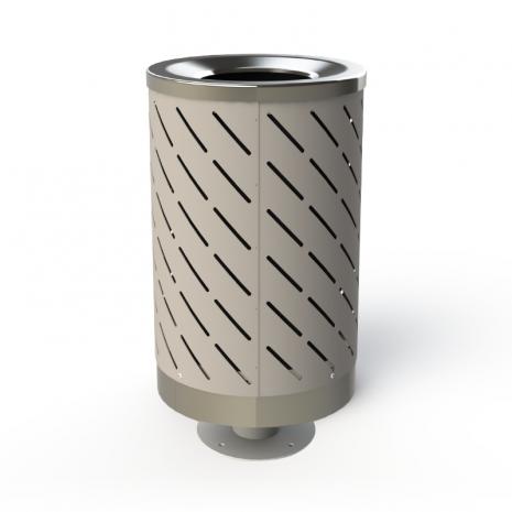 London Bin - Stainless Steel - Pedestal Base - APO Grey
