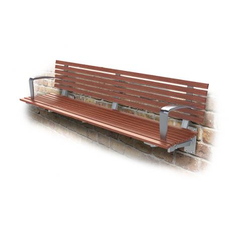 London Seat - Wall Mount - Merbau Hardwood