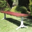 London Bench - Splay Leg - Merbau Hardwood