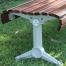 Madrid Bench – Splay Leg - Merbau Hardwood