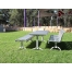 Madrid Setting with Benches (Custom Config) - Splay Leg - Anodised Aluminium