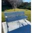 Madrid Seat - Splay Leg - Anodised Aluminium