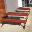 London Setting with Benches (Black) – Merbau Hardwood