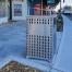 Athens Bin Enclosure - SS Laser Cut Base & SS Sloping Cover