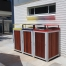 Athens Bin Enclosures - Timber Slat Bases with Custom Coloured Curved Covers