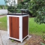 Athens Bin Enclosure - Timber Slat Base with Custom Coloured Curved Cover