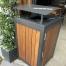 Athens Bin Enclosure - Custom Timber Slat Base with Custom Coloured Curved Cover + Frame