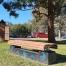 Madrid Bench - Plinth Mount - Enviroslat Walnut