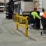 Recessed Rail Warehouse Barrier - 2m Post & Rail Kit